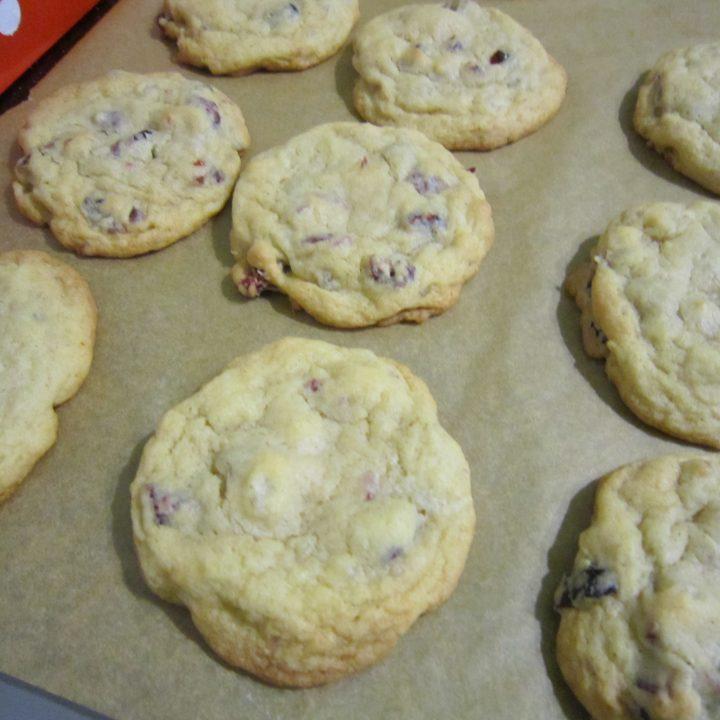 organic fruitcake cookies cooling